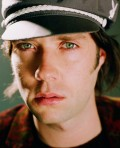 Rufus Wainwright wears a cap